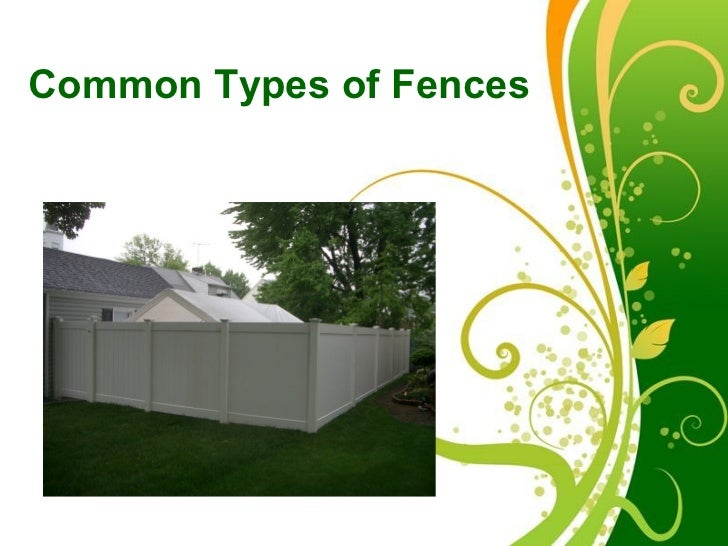 Common Types of Fences          Free Powerpoint Templates                                      Page 1