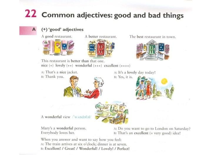 Common adjectives 1