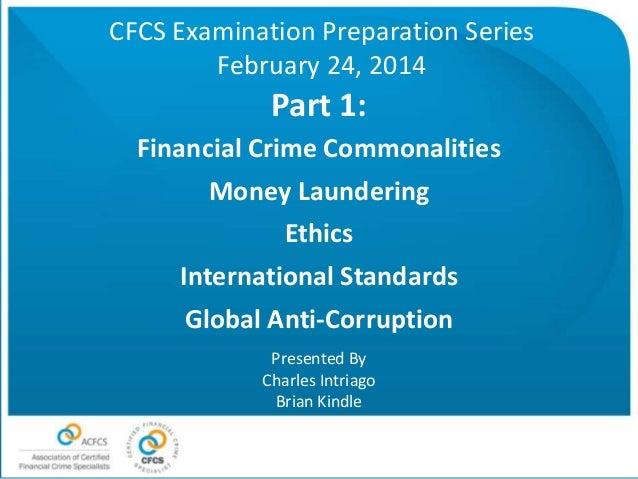 Commonalities, money laundering, ethics, international standards, gac 2 24-14