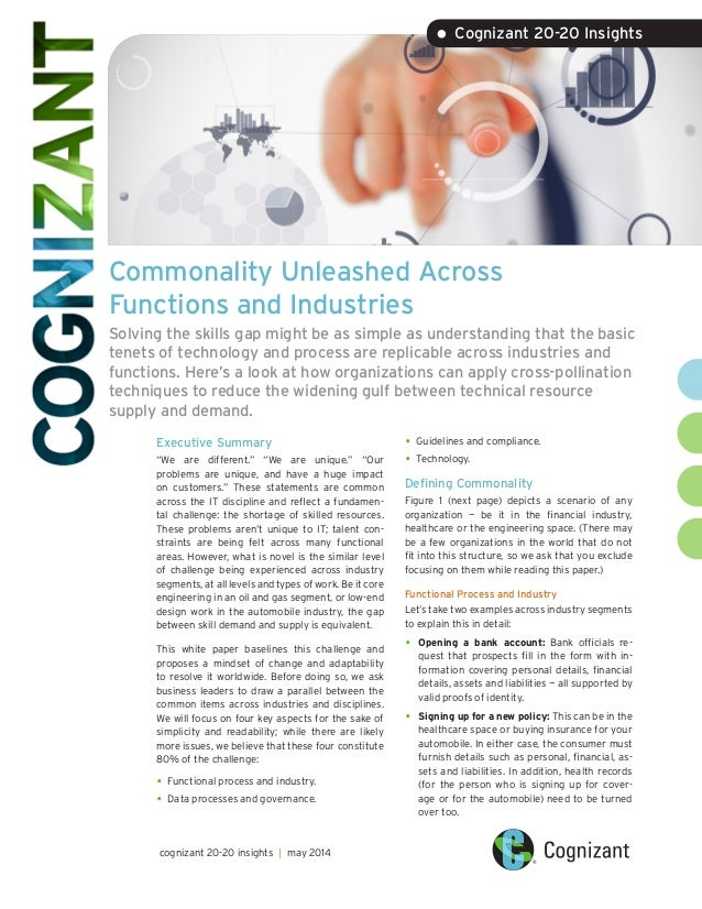 Commonality Unleashed Across Functions and Industries