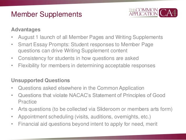 usc common app supplement essay