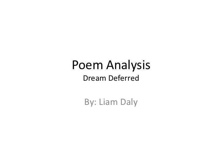 langston hughes dream deferred essay The american dream - langston hughes - heike barkawitz - presentation /  essay (pre-university) - american studies - literature - publish your bachelor's or .