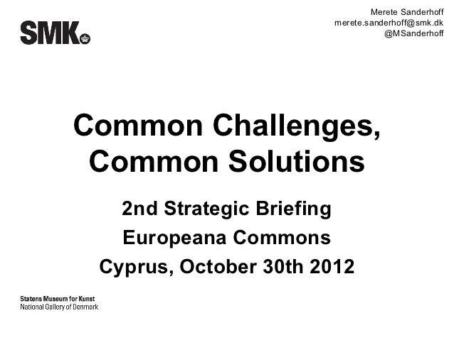 A European Cultural Commons 30102012