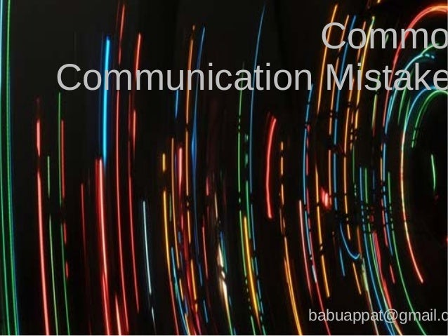 Common Communication Mistakes- Online Communication should be as errror free as possible