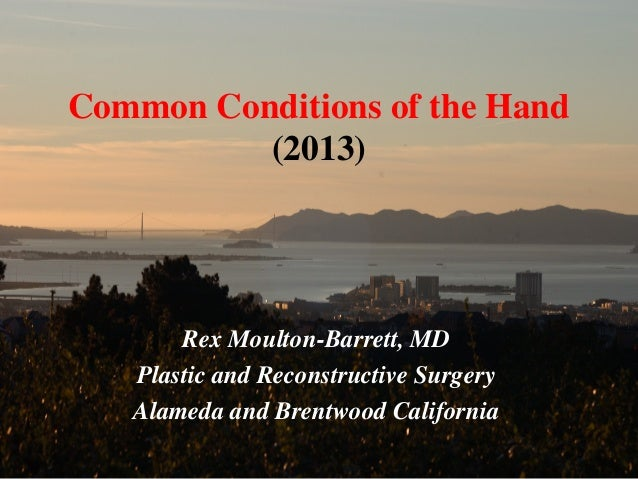 Common conditions of the hand (2013)