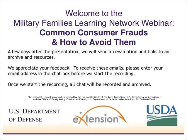 Common Consumer Frauds & How to Avoid Them