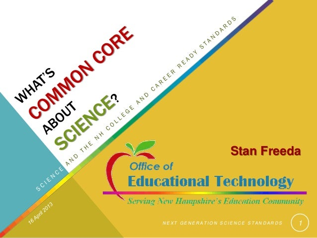 Science and the Common Core April 2013