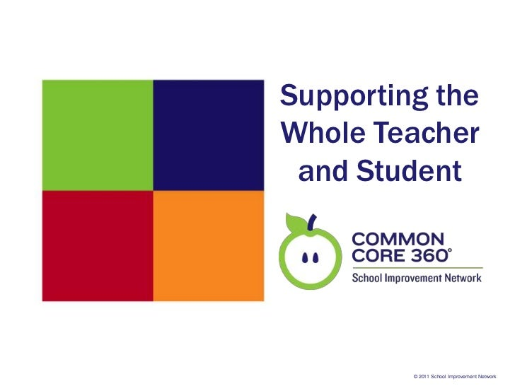 Supporting theWhole Teacher and Student         © 2011 School Improvement Network