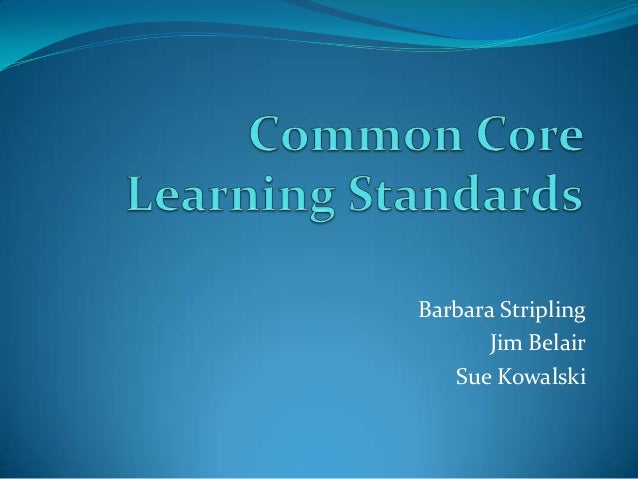 Common Core Learning Standards - Fayetteville Free Library