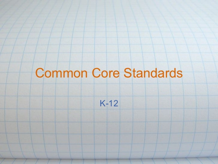 Common Core Presentation