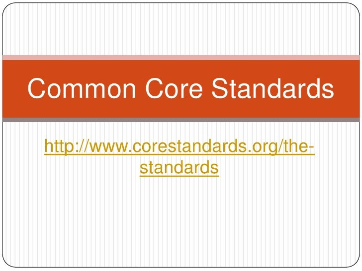 Common core standards to pchs