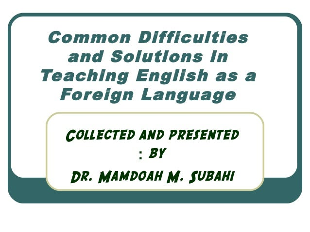 essay on teaching english as a foreign language
