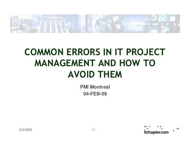 Common errors in it project management   english v1.0