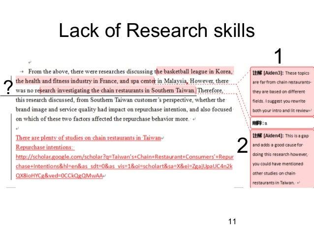 research investigation essay
