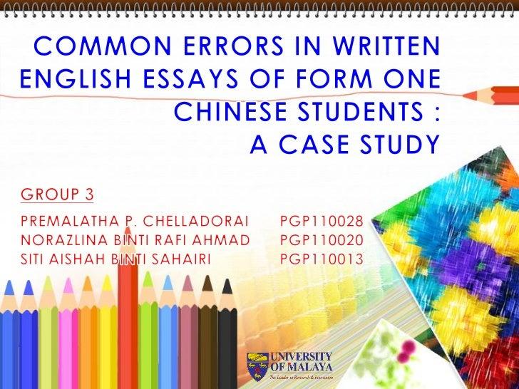 Writing English Essays