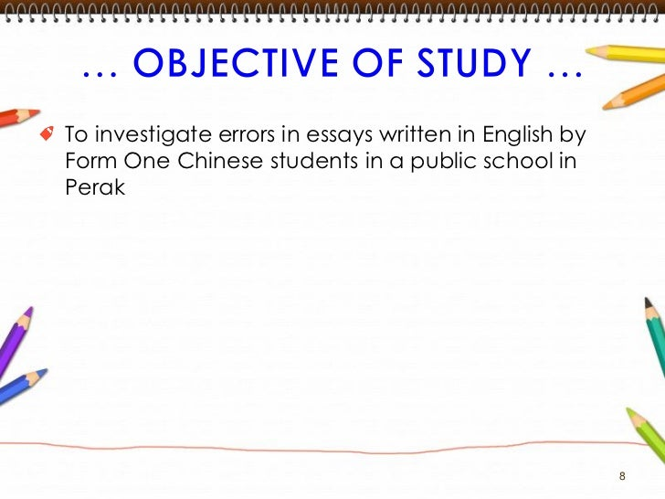 common errors in written english essays Explanation and links to common errors in the following categories:  common writing mistakes  (the word comes from by twain in middle english), while among is .