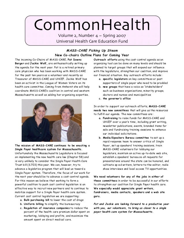 CommonHealth Newsletter - Spring 2007