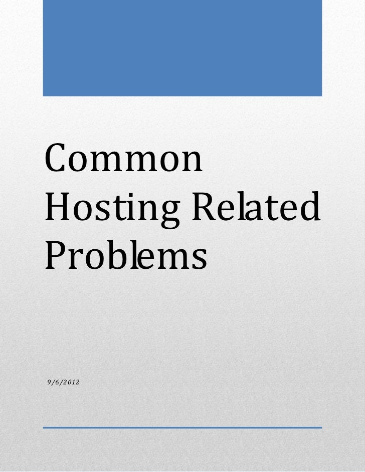 Common Hosting Related Problems