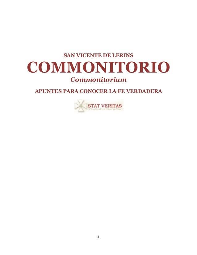 Commonitorio(san vicente de_lerins)