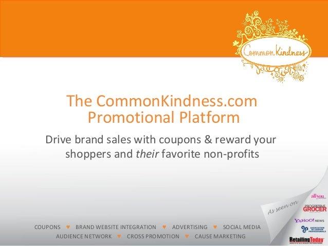 CommonKindness Coupon Platform 06022014
