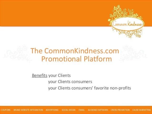 CommonKindness Coupon Platform for Agencies April 2014