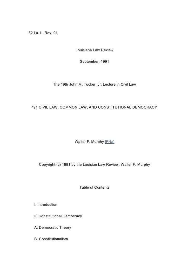 52 La. L. Rev. 91                                Louisiana Law Review                                 September, 1991     ...