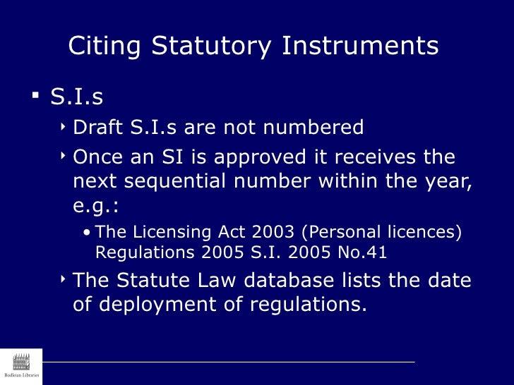 Statutory Instruments Act