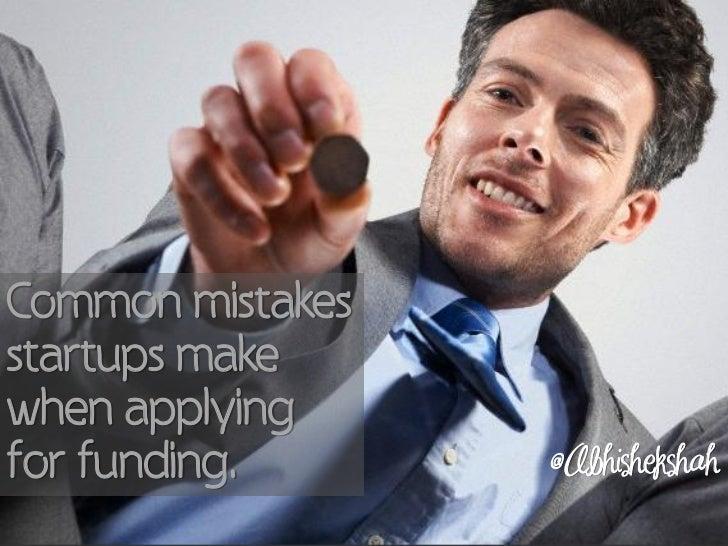 Common Mistakes Startups Make When Applying For Funding