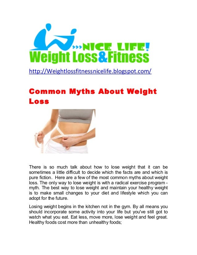 Common myths about weight loss