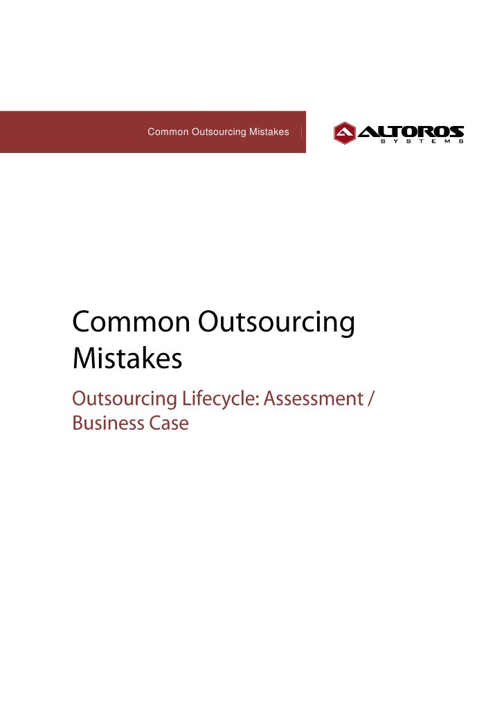 Common Outsourcing Mistakes