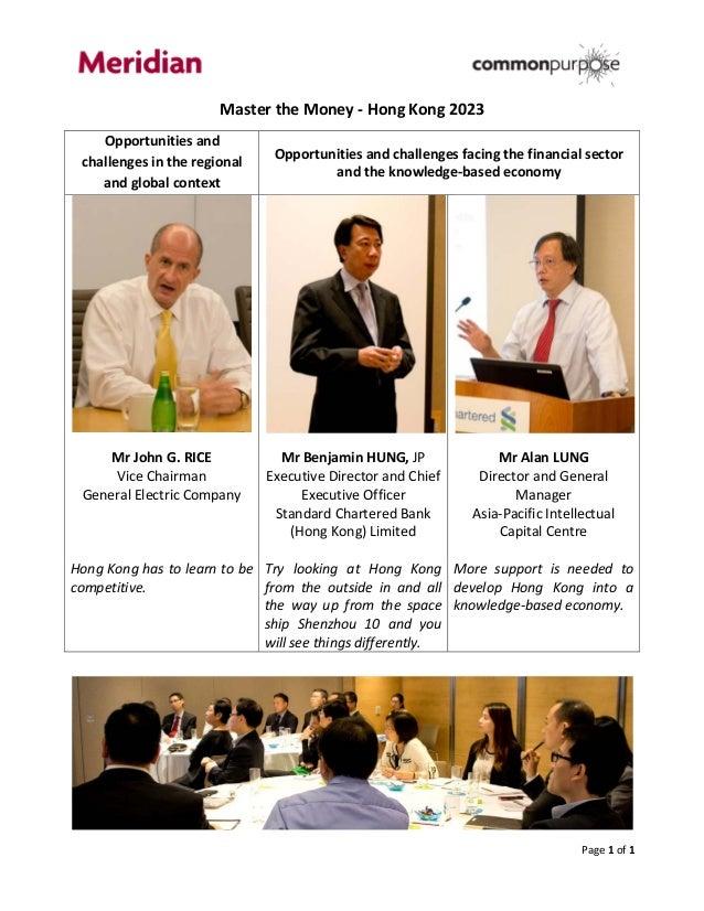 Common purpose   meridian leadership training course on - knowledge-based economy  (13 june 2013)