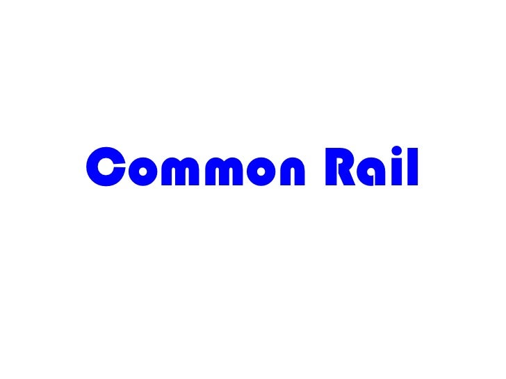 Common rail (bosch) k