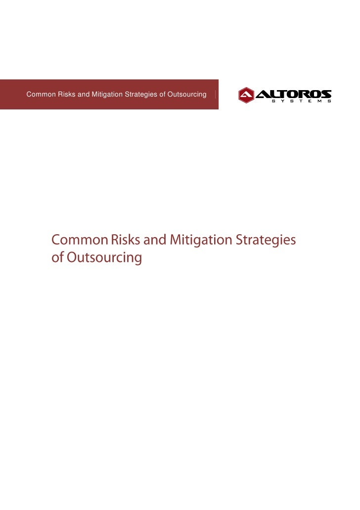 Common Risks and Mitigation Strategies of Outsourcing