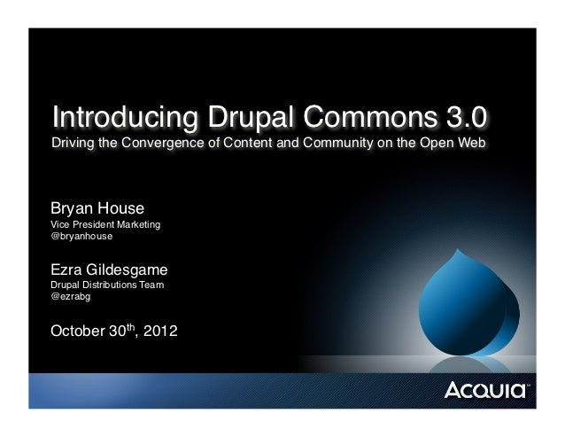 Introducing Drupal Commons 3.0