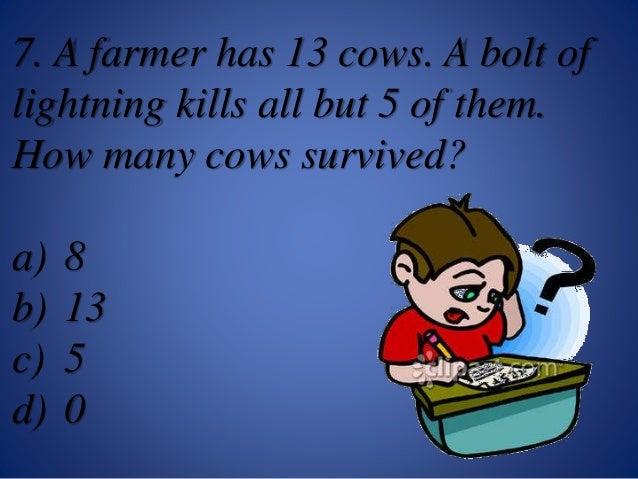 Common Sense Questions Common sense quiz