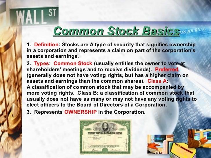Common stock basics