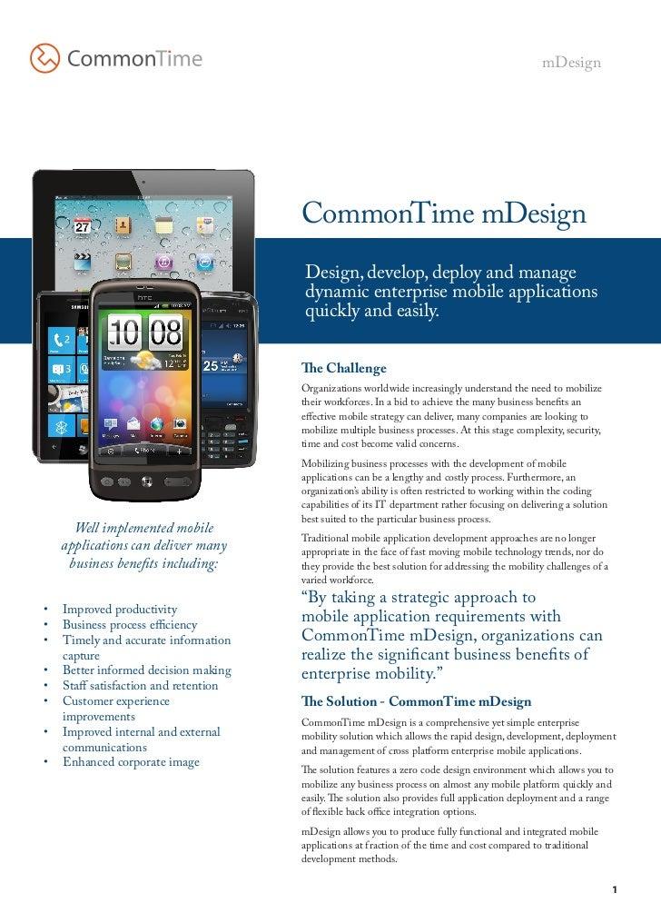 mDesign                                      CommonTime mDesign                                       Design, develop, dep...