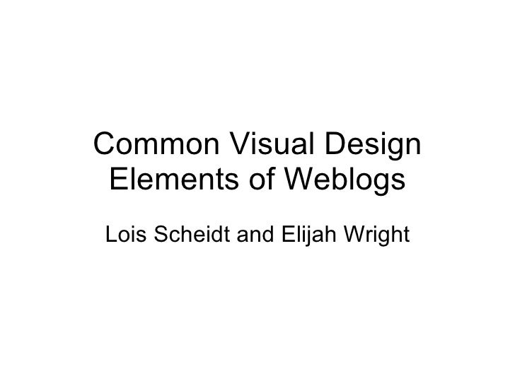 Common visual design elements