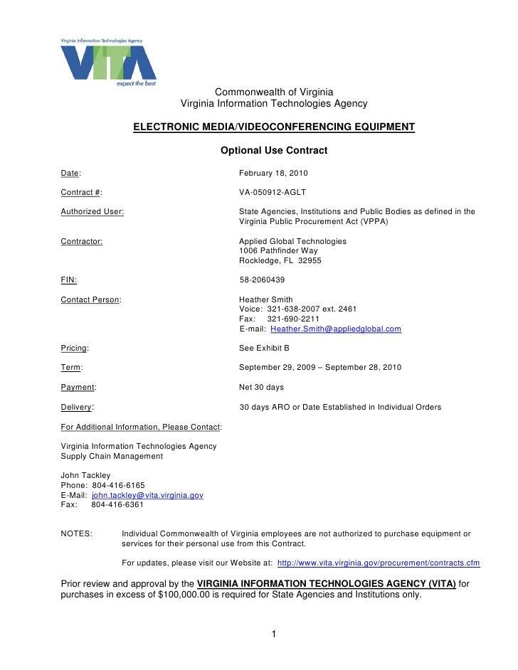 Commonwealth of Virginia                                  Virginia Information Technologies Agency                       E...