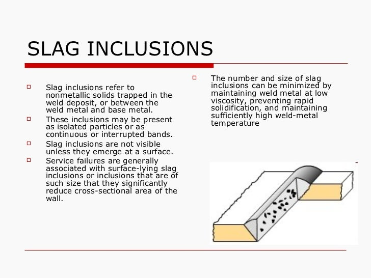 weld defect slag inclusion