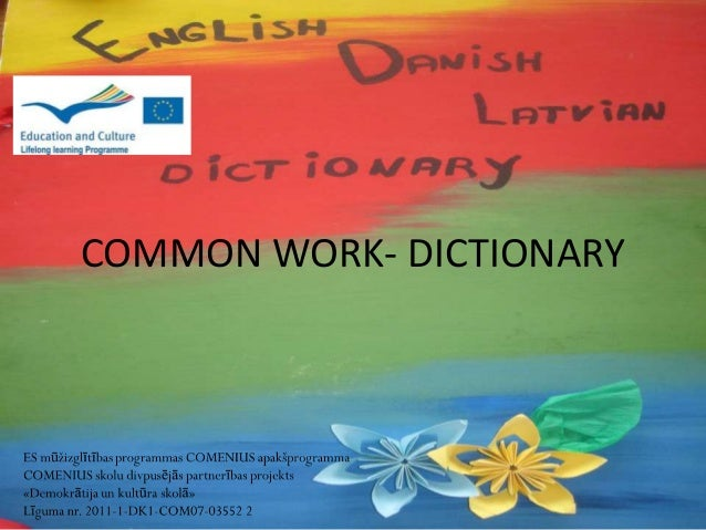 Common work  dictionary