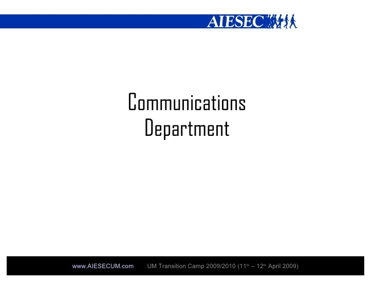 Communications Department