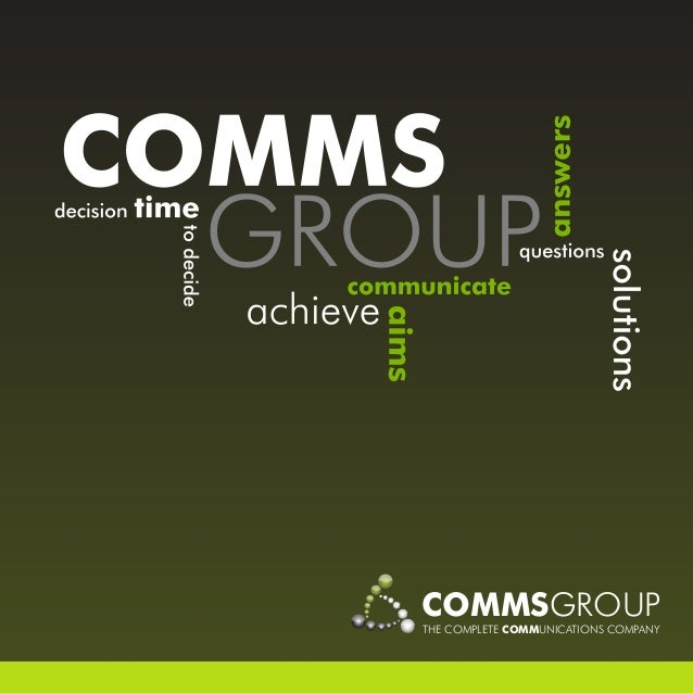 COMMSGROUPTHE COMPLETE COMMUNICATIONS COMPANY