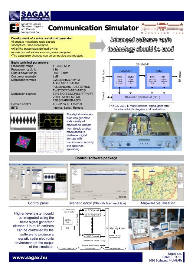 Ministry of Defence Electronics, Logistics and Property Management Co.  Communication Simulator  Development of a universa...