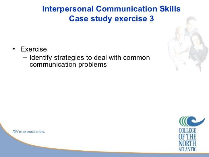 Case study oral communication skills