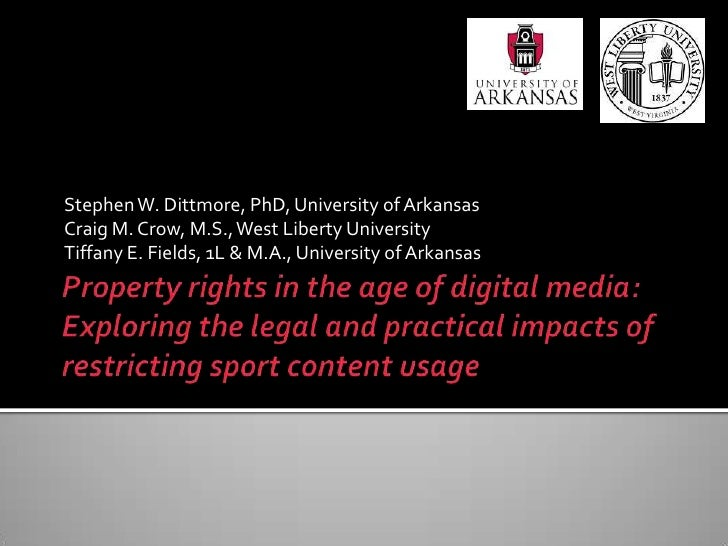 Property rights in the age of digital media: Exploring the legal and practical impacts of restricting sport content usage<...