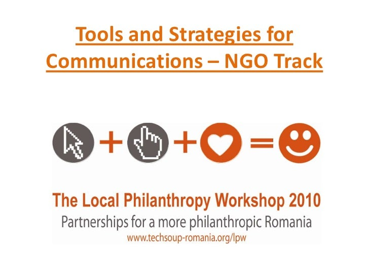Tools and Strategies for Communications – NGO Track<br />