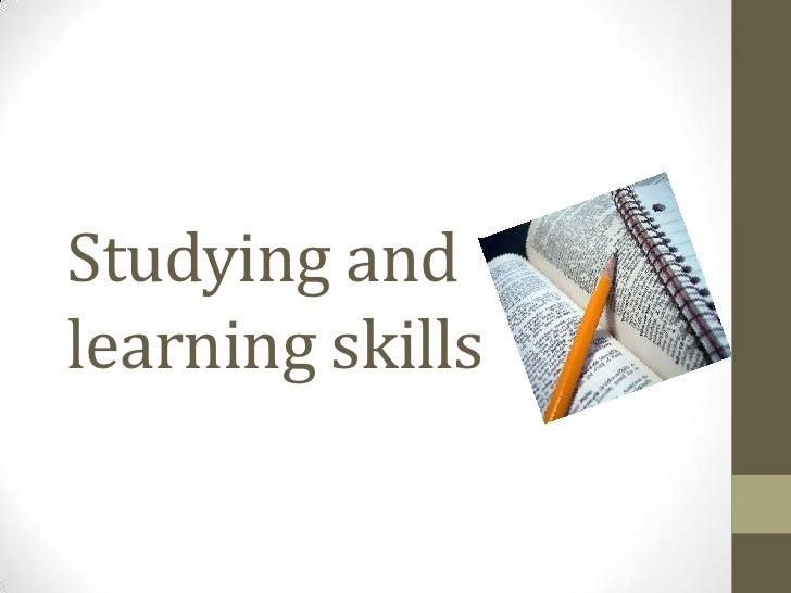 Studying andlearning skills