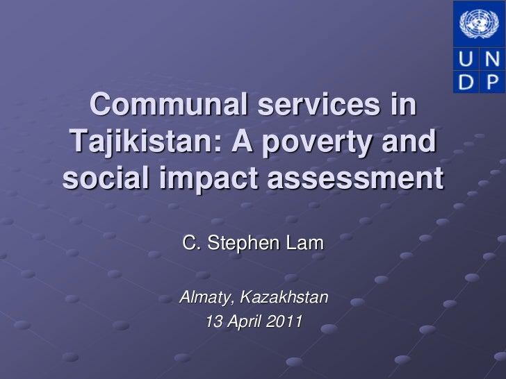Communal Services in Tajikistan