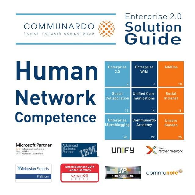 Enterprise 2.0 2 Enterprise Wiki 6 AddOns 10 Social Collaboration 11 Unified Com- munications 14 Social Intranet 16 Enterp...